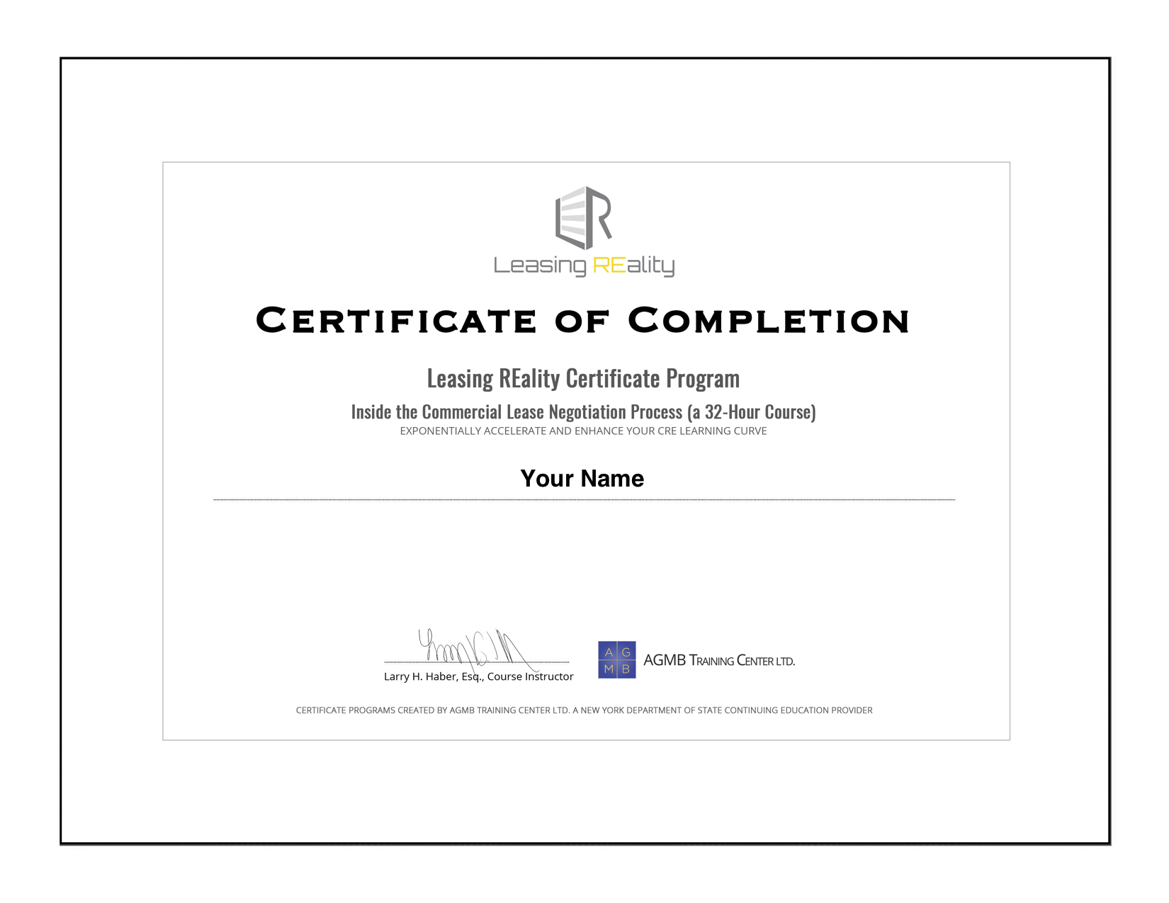 Leasing_REality_Certificate